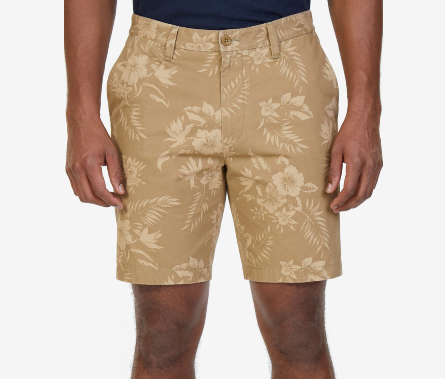 Nautica Mens Classic-Fit Cotton Floral Short, Sandy Bar