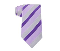 Geoffrey Beene Men's Stripe of the Moment Tie, Purple Dust
