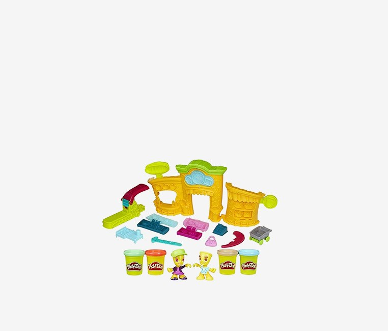 Town Shape and Make Market, Yellow/Purple/Green/Blue