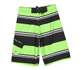 Maui and Sons Boy's Supreme Striped Board Shorts, Green