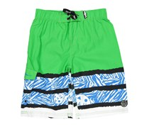 Maui and Sons Boy's Savage Stripe Board Shorts, Green