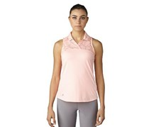 Adidas Women's Climacool Mesh Polo Top, Peach