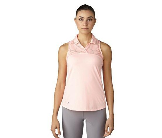Women's Climacool Mesh Polo Top, Peach