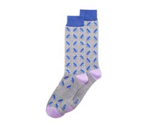 Bar III Men's Dragonfly Socks, Grey