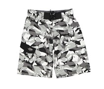 Maui and Sons Boy's Shark Attack Board Shorts, White