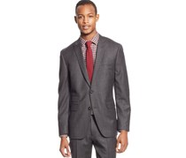Bar III Carnaby Slim Fit Short Blazer, Charcoal
