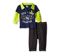 Baby Boys' 2 Piece Collared Shirt  And Denim Pant