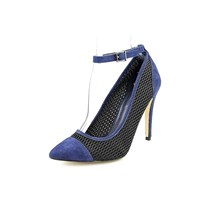 Bcbg Cynthia Pointed Toe Ankle Strap Pumps, Blue Night