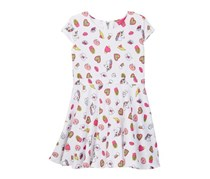 Betsey Johnson Emoji Print Soft Scuba Dress, White