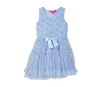 Betsey Johnson Soutache Bodice Tutu Dress, Light Blue