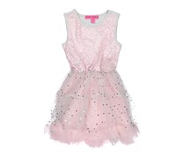 Betsey Johnson Pink Baby Girls Sleeveless Sequin Dress With Ruffles, Pink