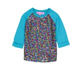Toddlers Sequin 3/4 Sleeve Top, Toprquoise