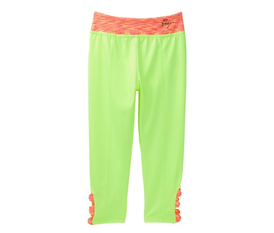 Betsey Johnson Girls Solid Pants,Electric Lime