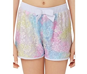 Betsey Johnson Kids Girls Rainbow Shorts,Multi
