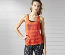 Reebok Women's Running Sleeveless T-Shirt Activehill, Carote