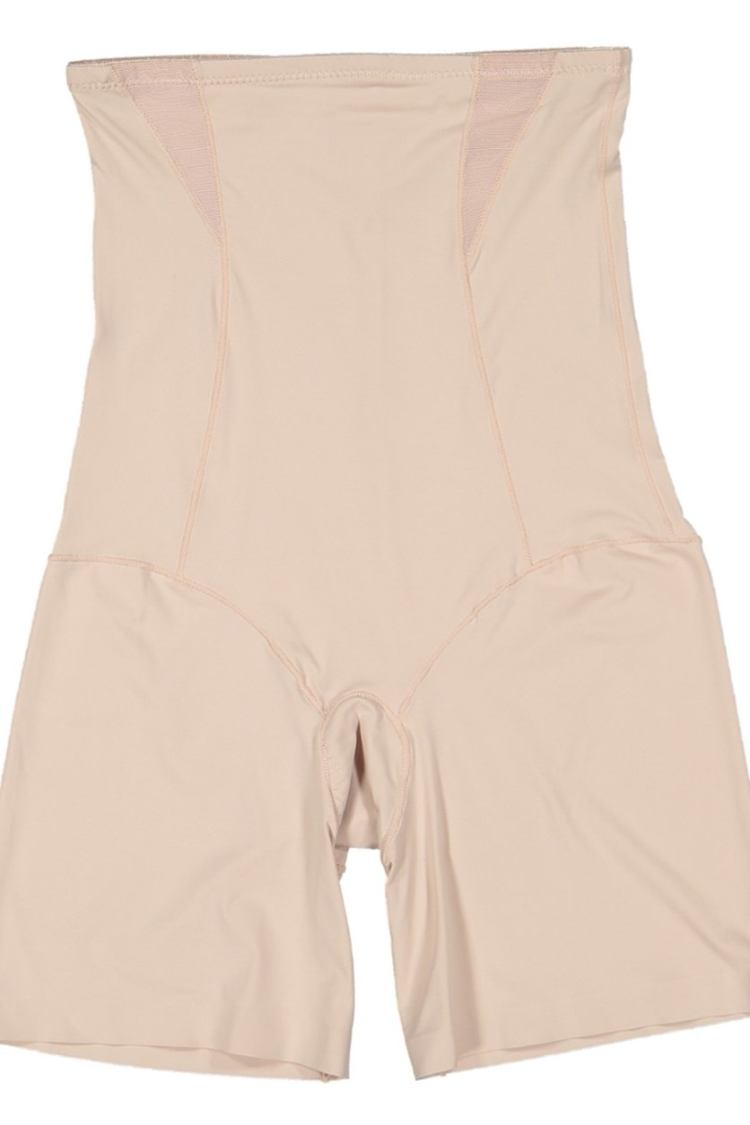 Mesh High Waisted Shaping Shorts, Beige