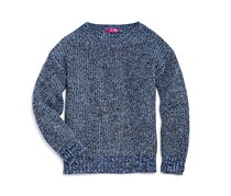 Aqua Girls' Marl Knit Sweater, Navy