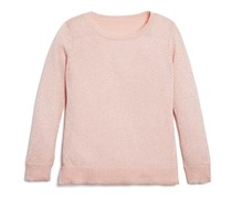 Bloomie's Girls' Long Sleeve Shimmer Sweater, Baby Pink