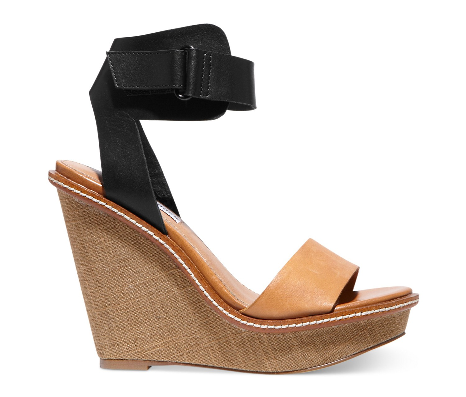 Steve Madden Brown Blitz Platform Wedge Sandals Brands