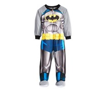 Ame Toddler Boys' One-Piece Footed Batman Pajamas