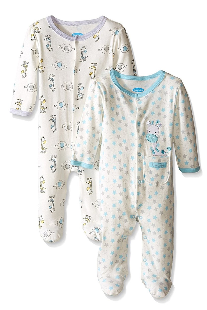 Baby Best Friends 2 Pack Assorted Coverall, White Multi