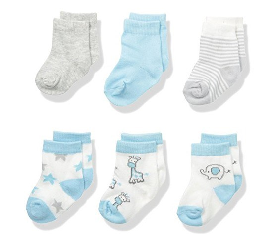 Baby Assorted 6 Pack Sock Set