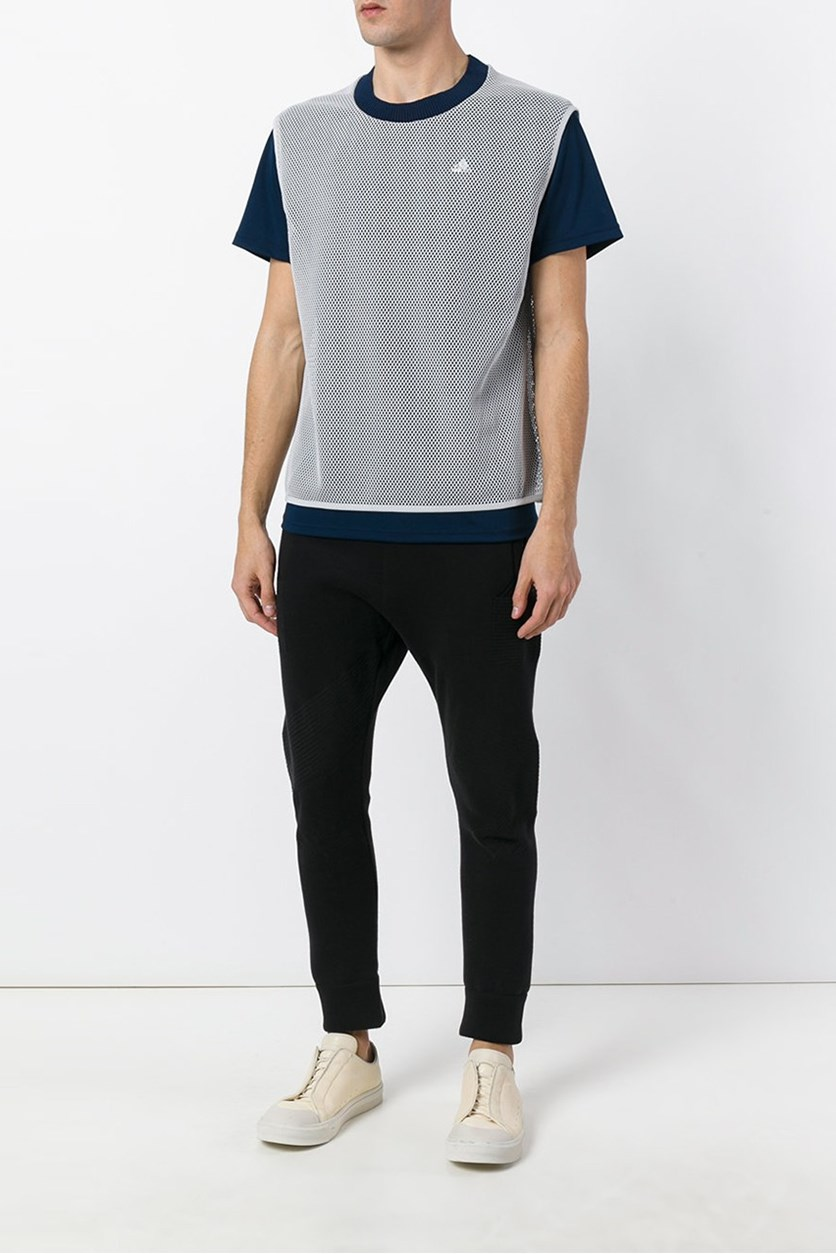 Men's Contrast Detail T-Shirt, Navy