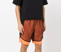 Adidas Layered Fishnet Sports Shorts, Glow Orange