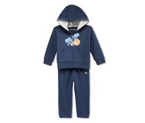 Baby Boys' All-Net Zip-Up Hoodie & Pants Set, Navy