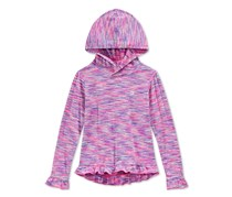 Champion Little Girls' Space-Dye Hoodie, Pink/Purple