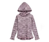 Champion Little Girls' Space-Dye Hoodie Top, Pink Prism