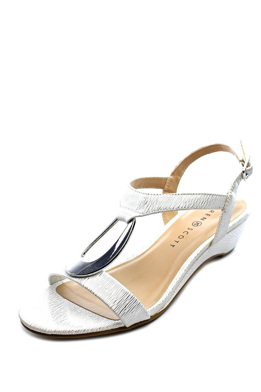 Carmeyy Wedge Sandals, White Coastal
