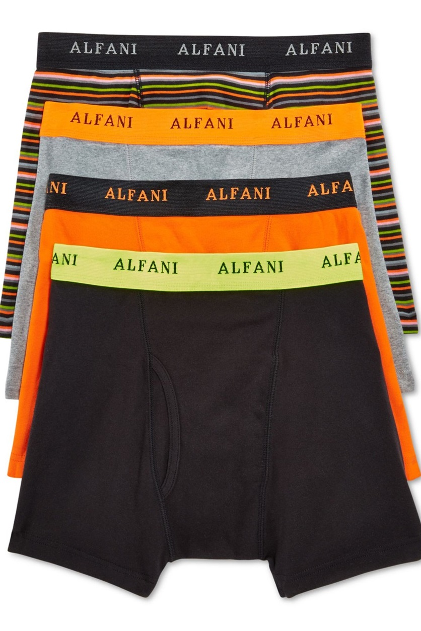 0ab9af5507cc Shop Alfani Alfani Mens Knit Boxer Briefs 4-Pack, Neon Multi for Men ...