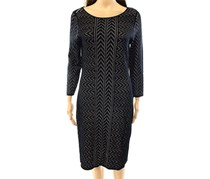 Calvin Klein Women's Chevron-Knit Sweater Dress, Black