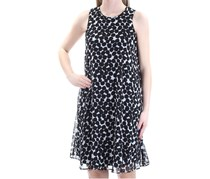 Calvin Klein Women's Polka Dot Shift Dress ,Black/White