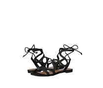 Steve Madden Cece Lace-Up Sandals, Black Nubuck