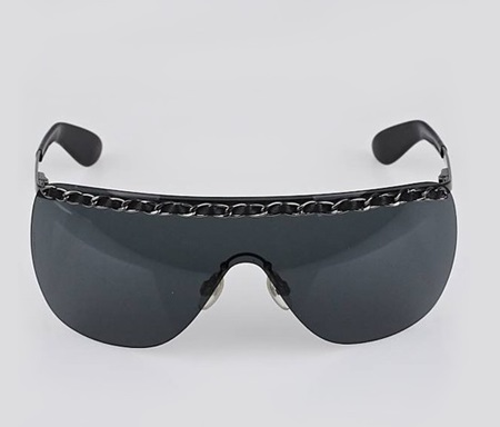 704ab96abe Shop CHANEL CHANEL Black Rimless Shield Chain Sunglasses-4160 for  Accessories in United Arab Emirates - Brands For Less