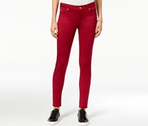 Celebrity Pink Juniors Light Wash Skinny Jeans, Rumba Red