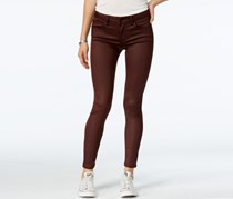 Juniors' Infinite-Stretch Coated Skinny Jeans, Burnt Red