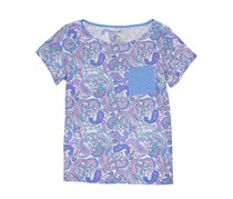 Caribbean Joe Women Tee w/ Pocket and Side Inserts, Lavender