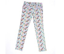 Celebrity Pink Girls' Fruits-Print Skinny Jeans,White Multi