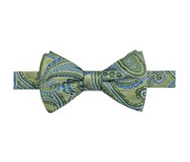 Men's Claremont Paisley Pre-Tied Bow Tie, Green