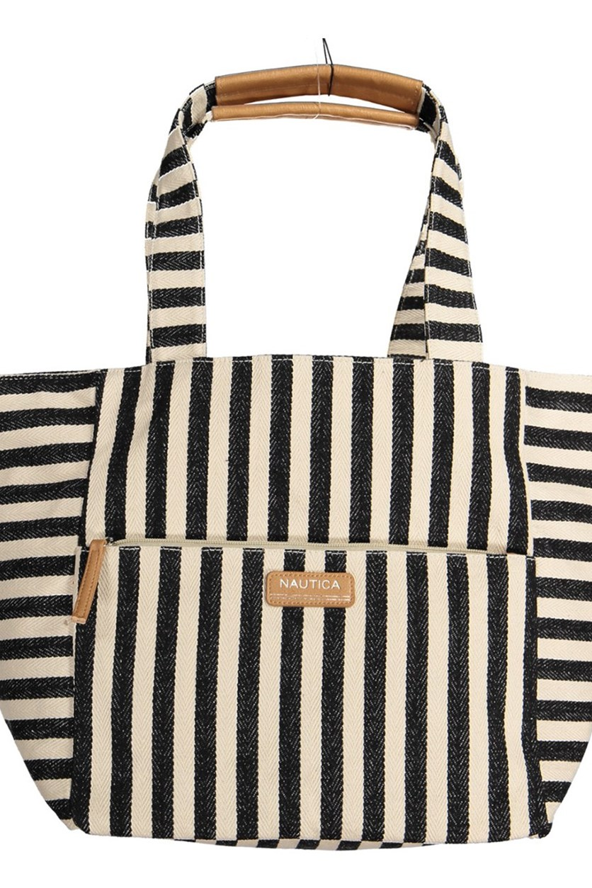 Women's Coney Island Tote, Black/Ivory