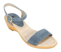 White Mountain Corky Wedge Sandals, Light Blue