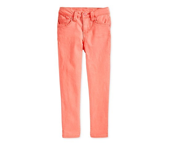 Little Girl's Super Soft Ankle Jeans, Coral