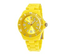 Ice-Watch Men's Classic Solid Yellow Dial Plastic Strap Watch, Yellow