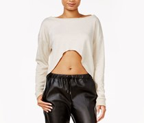 chelsea sky Long-Sleeve Crop Top, Natural