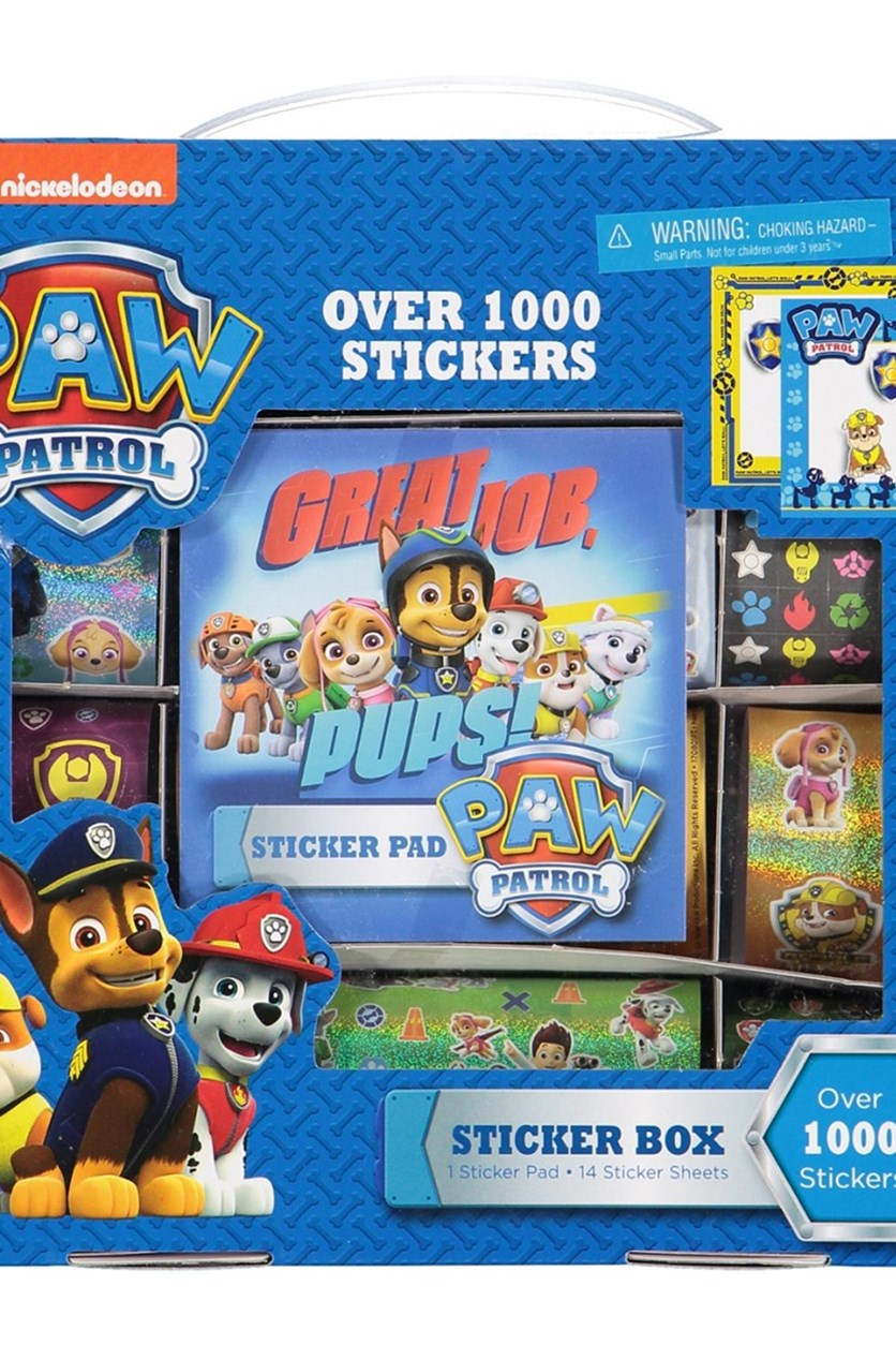 Paw Patrol Sticker Box, Blue