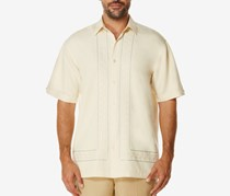 Cubavera Men's Grid Short-Sleeve Shirt, Bleached Sand