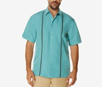 Cubavera Men's Contrast Stitch Short-Sleeve Shirt, Bristol Blue